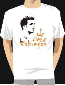 Kaos Fabregas, buat kanu yang suka Arsenal